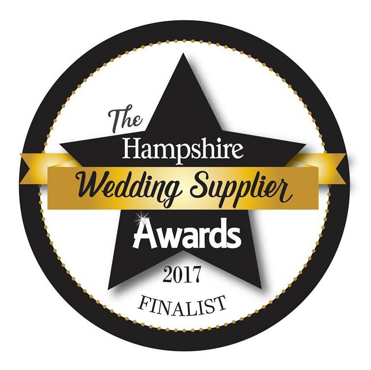 Hampshire wedding supplier awards finalist
