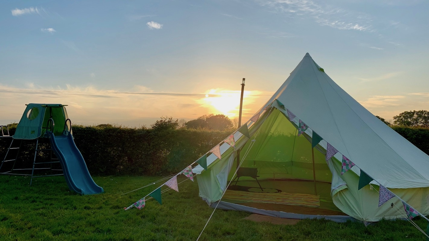 How to install a wood stove in a Bell Tent