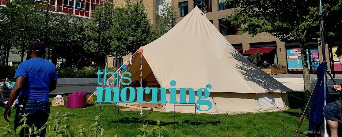 Glamping on ITVs This Morning and they wanted us, again!